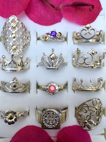 anillos plata oro