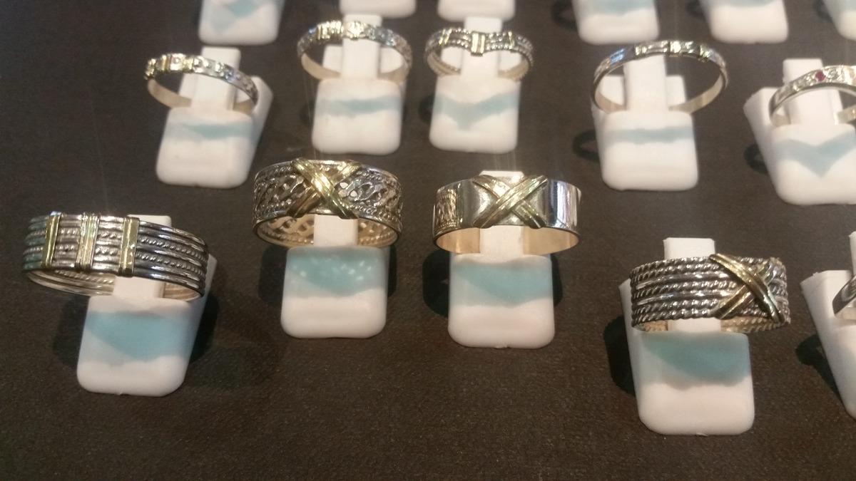 32085d541365 anillos plata y oro por mayor pack 10 unidades surtidas. Cargando zoom.