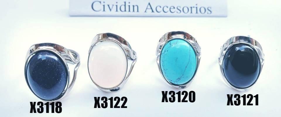343276656f7d7 anillos regulables 10 de alpaca con piedra por mayor. Cargando zoom.