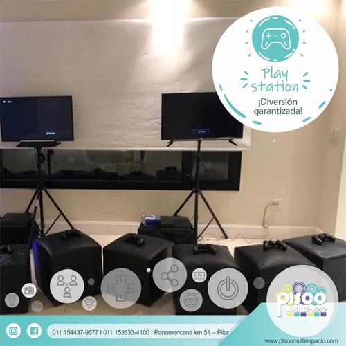 animación a domicilio -campamento-fiesta teen-playstation 4