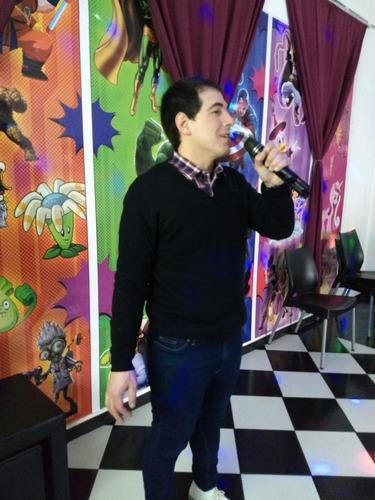 animación adultos dj disc jockey juegos karaoke proyector