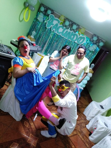 animación baby shower, doctor clown, show embarazada claun