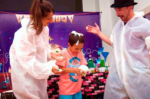 animación ciencia cumpleaños científico online / aire libre