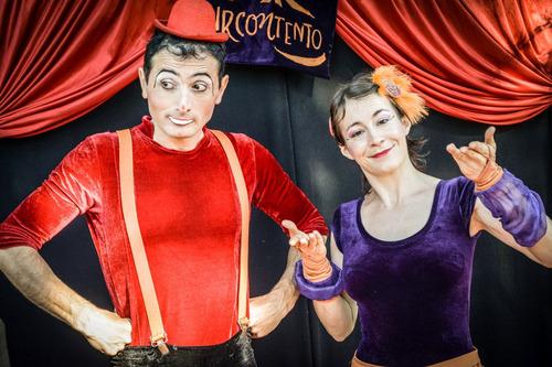 animación con circo, show zanquistas, capital federal y  gba