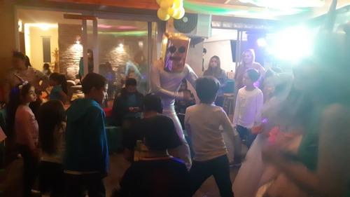 animación de cumpleaños flúor disco peque baile fiesta wooo
