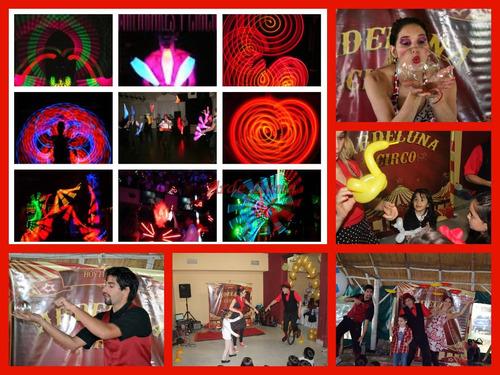 animacion infantil  con burbujas gigantes , shows  de circo