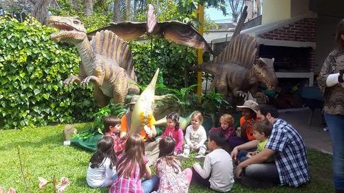 animación infantil dinosaurios títeres.copos y pop de regalo