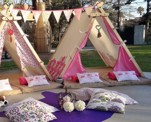 animación piyama party en carpas para nenas -a domicilio