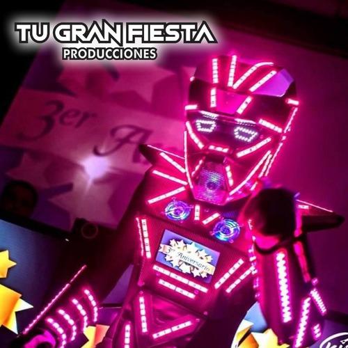 animacion robot led y fotocabina led - de córdoba al país