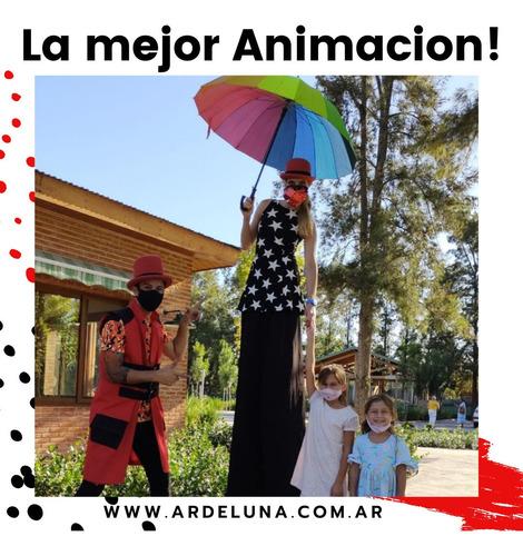 animacion show circo burbujas aire libre plazas   zoom