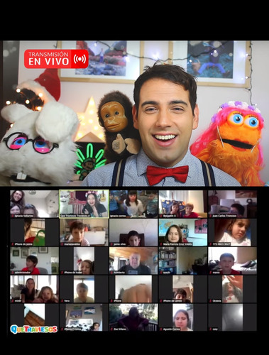 animaciones de cumpleaños infantil  online  zoom youtube