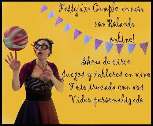 animaciones infantiles online show de circo. talleres.