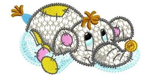 animais vazados - coleção de matriz de bordado