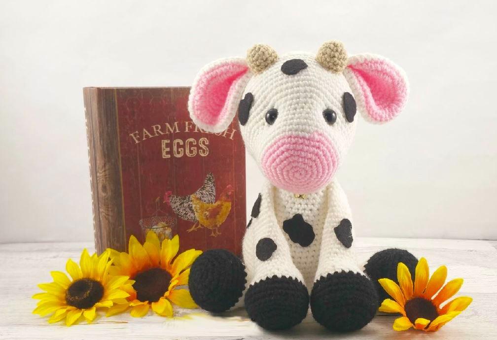 Amigurumi Vaca : Animal vaca preciosa tejido amigurumi crochet super tierna