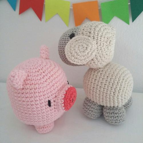 animales de la granja muñecos tejidos amigurumi