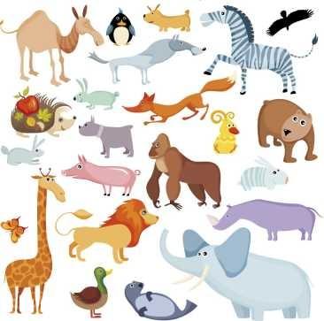 Animales dibujos infantiles lamina 30 x 30 cm 380 - Fotos de animales infantiles ...