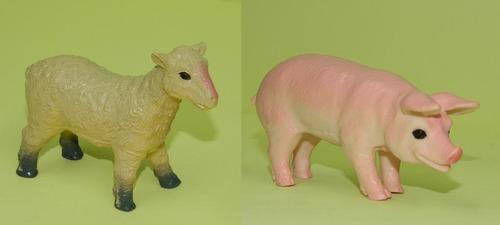 animales granja animalitos  x 2 un. material didactico