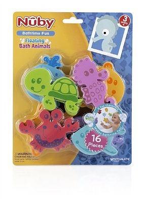 animalitos de goma eva para baño 16 piezas