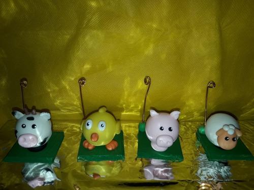animalitos de granja ideal souvenirs o para adorno de torta