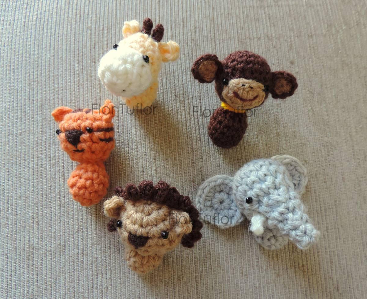 Llaveros Amigurumis Animales : Animalitos de la selva tejidos pack llaveros souvenirs