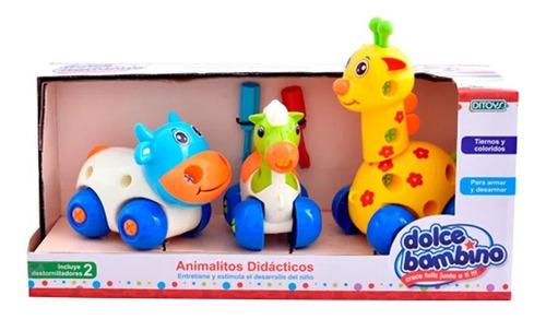animalitos didactico de arrastre dolce bambino (7281)