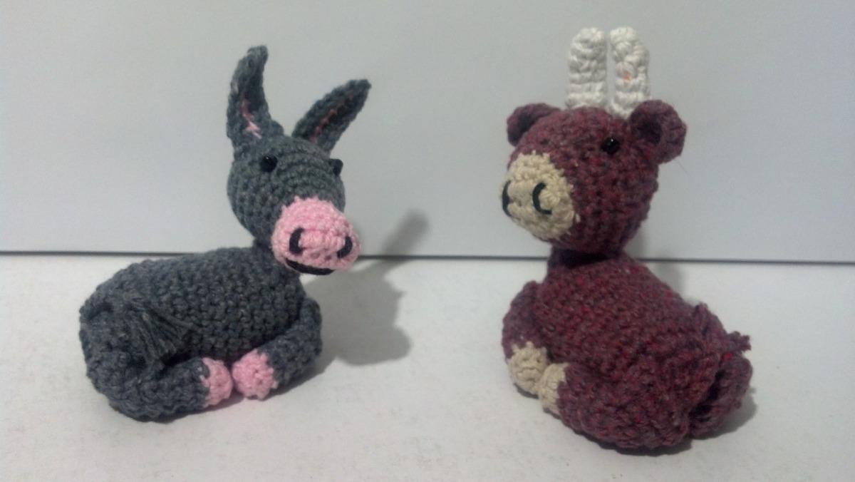 Animalitos Para El Pesebre De Navidad Tejidos A Crochet Bs 12000