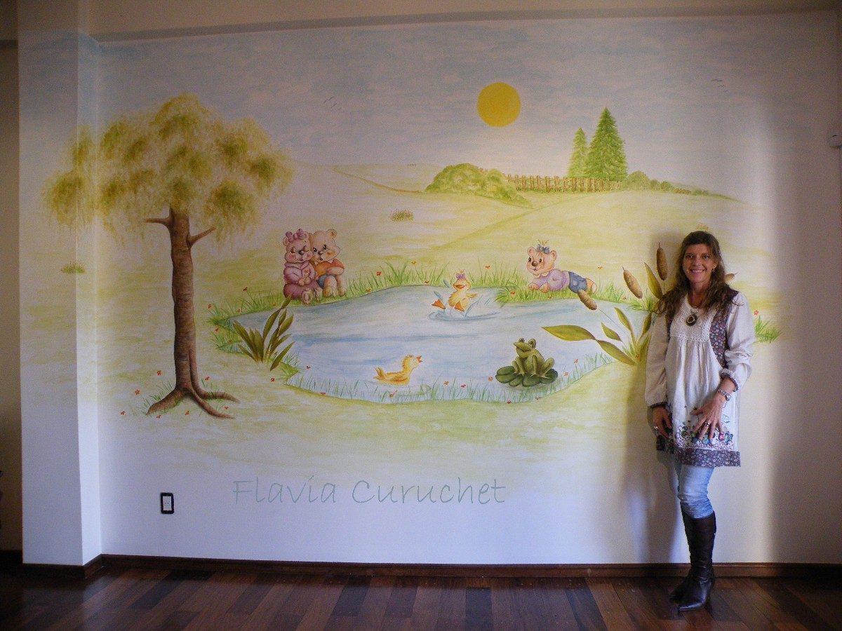 Animate a pintar murales en las paredes en mercado libre - Murales pintados en la pared ...