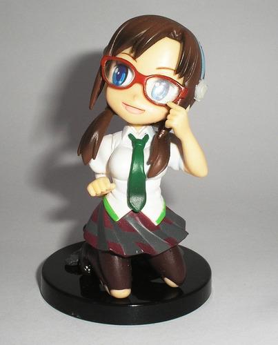 anime evangelion chibi figura mari juguete