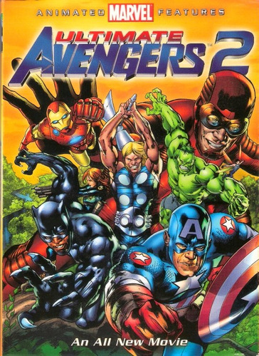 animeantof: dvd ultimate avengers 2 marvel- pelicula animada