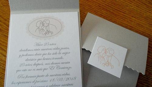 aniversario boda casamiento invitaciones tarjetas