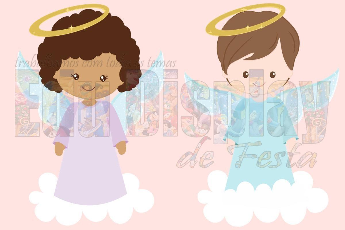 f539483e642 anjos batizado - kit 10 display mesa festa decoração 20cm. Carregando zoom.