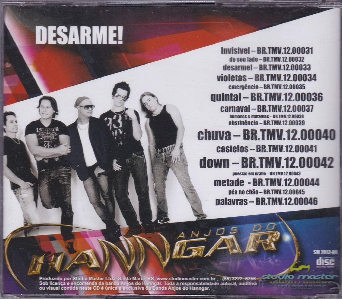 novo cd anjos do hanngar 2012