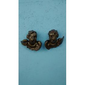Anjos Esculpidos Em Madeira De Mogno