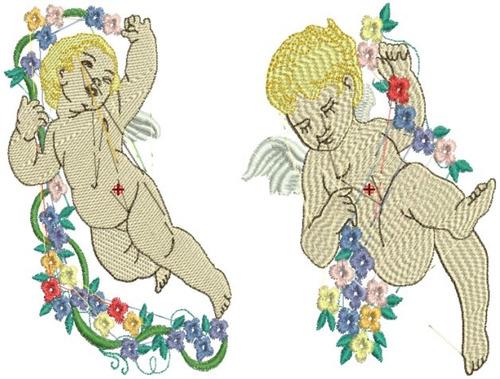 anjos renascentistas  - 18 matrizes de bordado comp via mail