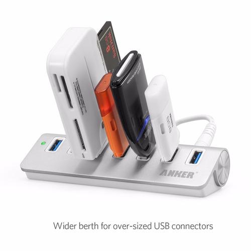 anker 7 puertos usb 3.0 de aluminio portable