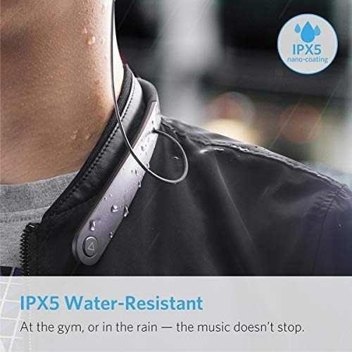 anker soundbuds life wireless lightweight neckband headphone