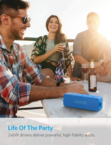 anker soundcore 2 12w portable wireless bluetooth speaker:.