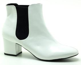 383ccca9dfc4 Ankle Boot Branca - Sapatos com o Melhores Preços no Mercado Livre Brasil