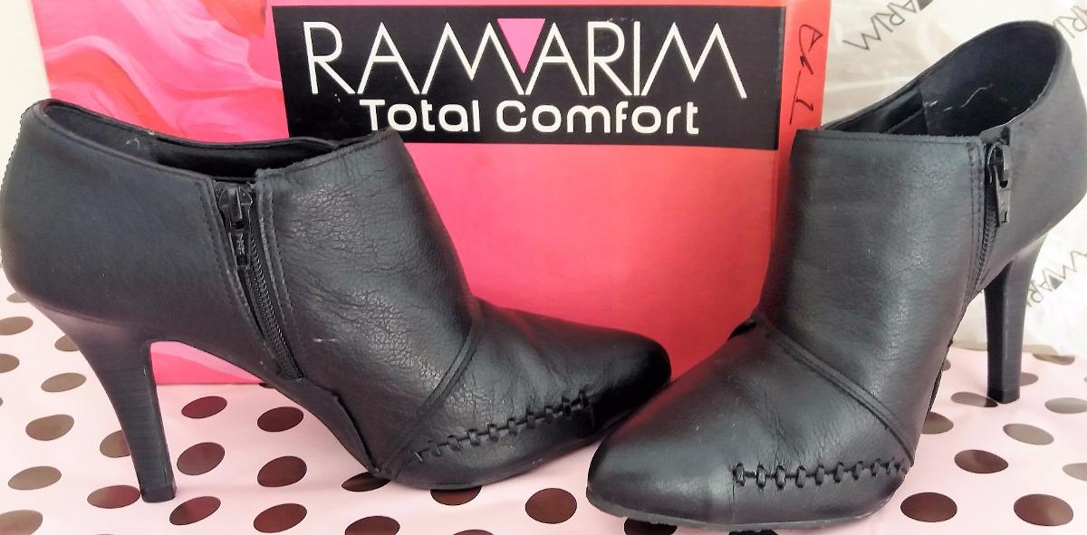 6a38b22d2 Ankle Boot Ramarim Couro Legítimo/ Total Comfort - R$ 120,00 em ...