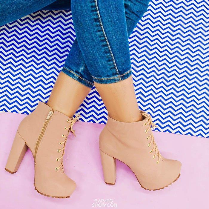 862eb20644da Ankle Boot Tratorada Numeração Grande Sapato Show 1120056e - R$ 229 ...