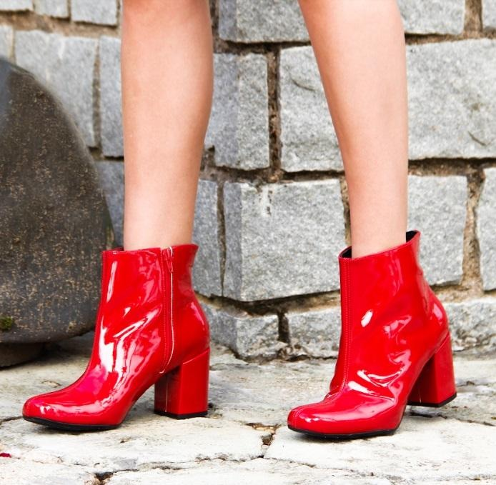 c8eceb12b1 ... salto grosso zatz cano curto vermelha · bota ankle boots · ankle boots  bota