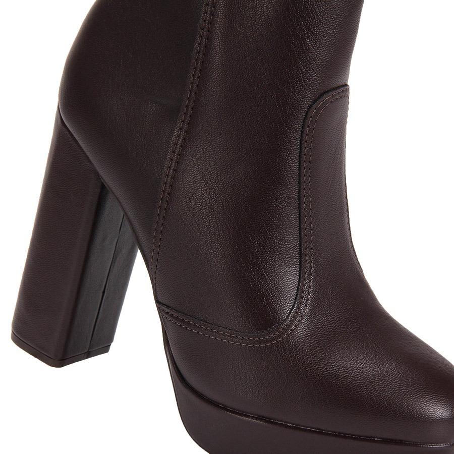 6c7d510f27 ankle boots salto grosso vizzano - cafe. Carregando zoom.