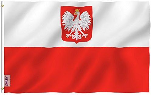 Anley [fly Breeze] Bandera De Bandera De Estado De Polonia