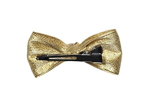 anna belen girls  angel  holiday bow clip o / s new gold...