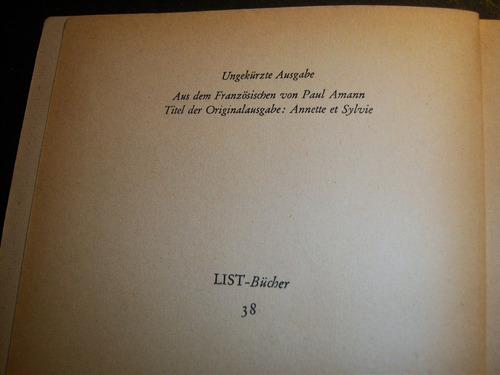 annette und sylvia. romain rolland.  en alemán