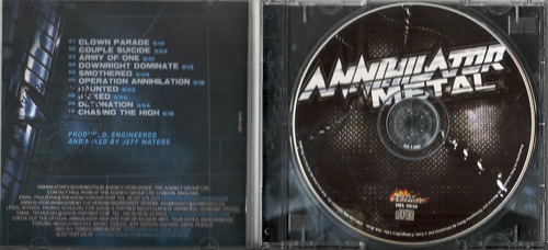 annihilator metal 2007 thrash cd(nm/ex-)(br)nacional**
