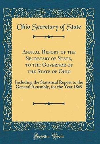 annual report of the secretary of state, to the governor of