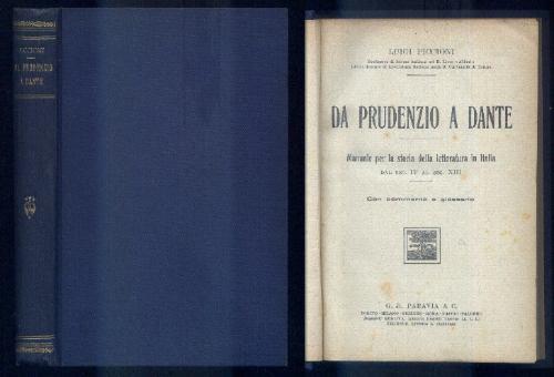 ano 1923 - manual de história da literatura italiana