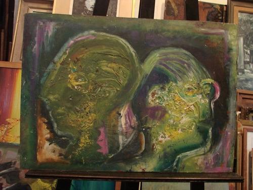 anonimo / retrato abstracto rostros / 50 x 70 # 1425