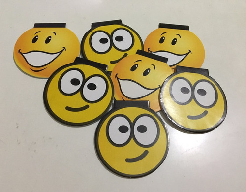 anotadores mini x12 un souvenirs bolsitas golosineras emoji